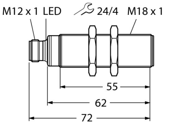 Ultraschallsensor RU50U-S18-KGV50500