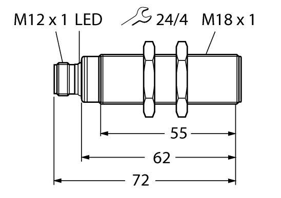 Ultraschallsensor RU50U-S18-KGI50500
